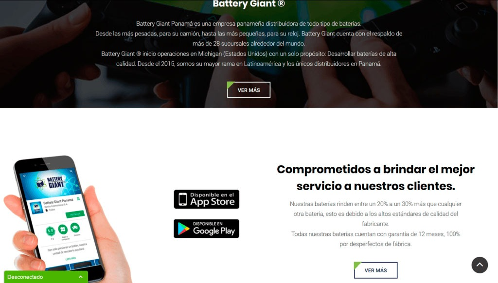 Battery Giant Website